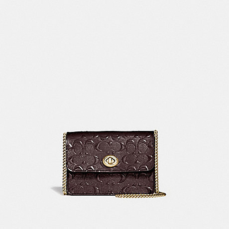 COACH BOWERY CROSSBODY IN SIGNATURE LEATHER - OXBLOOD 1/LIGHT GOLD - F31440