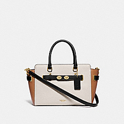 BLAKE CARRYALL 25 IN COLORBLOCK - CHALK/BLACK MULTI/GOLD - COACH F31456