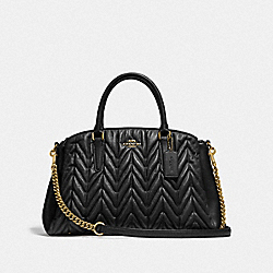 SAGE CARRYALL WITH QUILTING - BLACK/LIGHT GOLD - COACH F31457