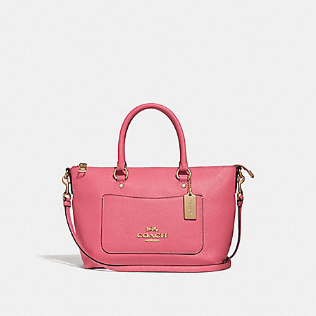 COACH MINI EMMA SATCHEL - PEONY/LIGHT GOLD - F31466