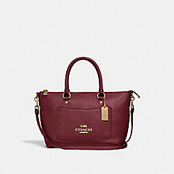 MINI EMMA SATCHEL - WINE/IMITATION GOLD - COACH F31466