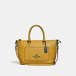 MINI EMMA SATCHEL - FLAX/BLACK ANTIQUE NICKEL - COACH F31466