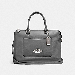 EMMA SATCHEL - HEATHER GREY/SILVER - COACH F31467