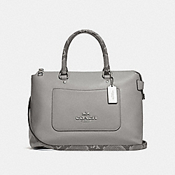 EMMA SATCHEL - HEATHER GREY/SILVER - COACH F31471