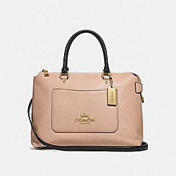 EMMA SATCHEL - BEECHWOOD/BLACK/LIGHT GOLD - COACH F31473