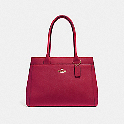 CASEY TOTE - CHERRY /LIGHT GOLD - COACH F31474