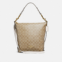 ABBY DUFFLE IN SIGNATURE CANVAS - LIGHT KHAKI/CHALK/IMITATION GOLD - COACH F31477