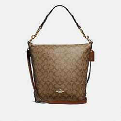 ABBY DUFFLE IN SIGNATURE CANVAS - KHAKI/SADDLE 2/LIGHT GOLD - COACH F31477