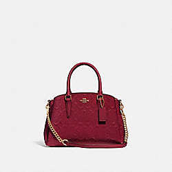 MINI SAGE CARRYALL IN SIGNATURE LEATHER - IM/CHERRY - COACH F31485