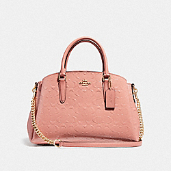 SAGE CARRYALL IN SIGNATURE LEATHER - MELON/LIGHT GOLD - COACH F31486