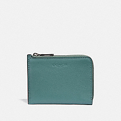 L-ZIP WALLET - CLOUD/BLACK ANTIQUE NICKEL - COACH F31489