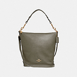 ABBY DUFFLE - MILITARY GREEN/GOLD - COACH F31507