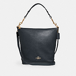 ABBY DUFFLE SHOULDER BAG - MIDNIGHT/IMITATION GOLD - COACH F31507