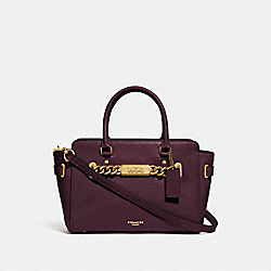 BLAKE CARRYALL 25 - OXBLOOD 1/LIGHT GOLD - COACH F31525