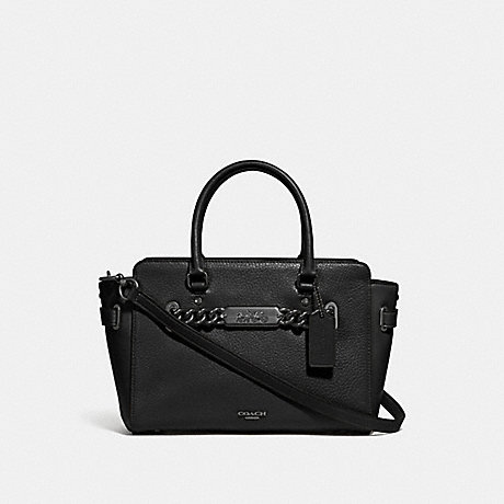 COACH BLAKE CARRYALL 25 - BLACK/BLACK ANTIQUE NICKEL - F31525