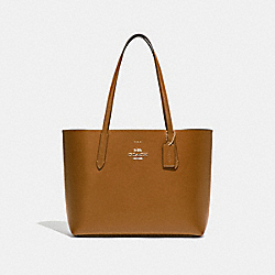 AVENUE TOTE - LIGHT SADDLE/NEON ORANGE/LIGHT GOLD - COACH F31535
