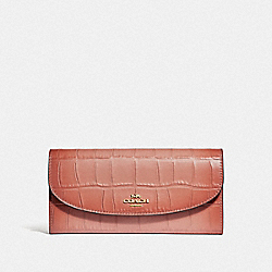 COACH SLIM ENVELOPE WALLET - MELON/LIGHT GOLD - F31607