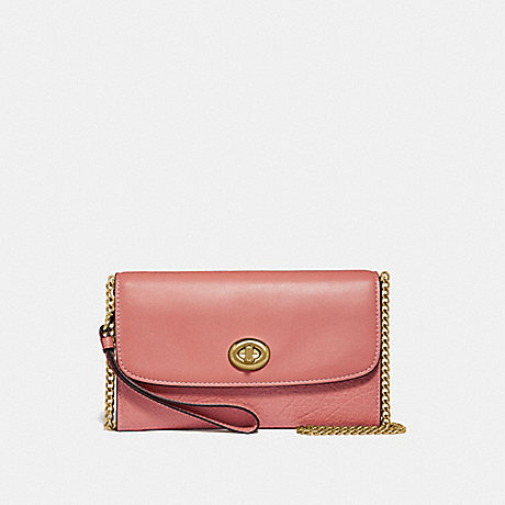 COACH CHAIN CROSSBODY - MELON/LIGHT GOLD - F31620