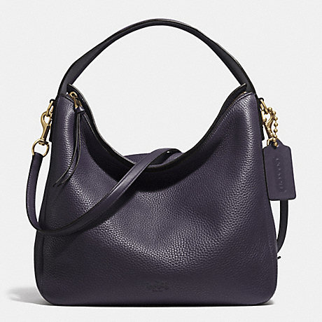 COACH BLEECKER SULLIVAN HOBO IN PEBBLE LEATHER -  GOLD/ULTRA NAVY - f31623
