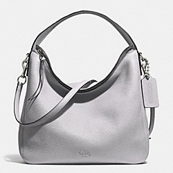 COACH BLEECKER PEBBLED LEATHER SULLIVAN HOBO - SILVER/SOAPSTONE - F31623