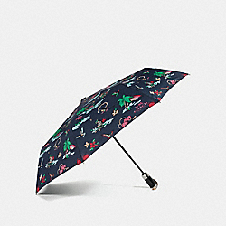 HULA GIRL UMBRELLA - f31643 - MULTI/SILVER
