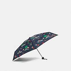 MINI HULA GIRL UMBRELLA - f31644 - MULTI/SILVER