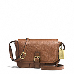 COACH HADLEY LUXE GRAIN LEATHER FIELD BAG - BRASS/SADDLE - F31664
