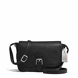 COACH HADLEY LUXE GRAIN LEATHER FIELD BAG - SILVER/BLACK - F31664
