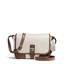 HADLEY LUXE GRAIN LEATHER FIELD BAG - SILVER/IVORY - COACH F31664