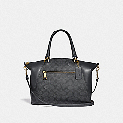 PRAIRIE SATCHEL IN SIGNATURE CANVAS - LI/CHARCOAL MIDNIGHT NAVY - COACH F31666