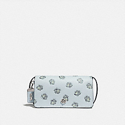 DINKY WITH GLITTER ROSE PRINT - SKY/SILVER - COACH F31679