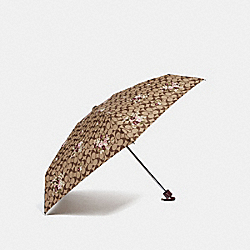 SIGNATURE MINI UMBRELLA WITH FLORAL PRINT - MULTI/SILVER - COACH F31705