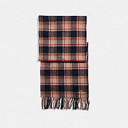 SHIRT PLAID SCARF - OAK PLAID - COACH F31790