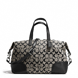 COACH HADLEY SIGNATURE ZIP SATCHEL - SILVER/BLACK/WHITE/BLACK - F31841