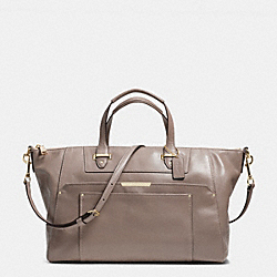 TAYLOR LEATHER ELISE ZIP TOP SATCHEL - f31847 -  IM/FLIGHT GOLDNT