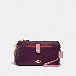 NOA POP-UP MESSENGER IN COLORBLOCK - PLUM MULTI/LIGHT GOLD - COACH F31864