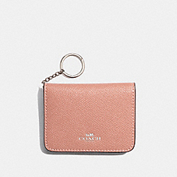 BIFOLD CARD CASE IN COLORBLOCK - PINK MULTI/SILVER - COACH F31885