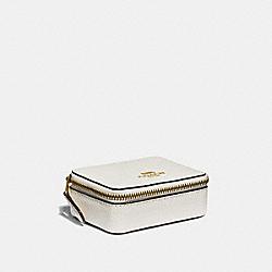 COACH TRIPLE PILL BOX IN COLORBLOCK - CHALK MULTI/light gold - F31886