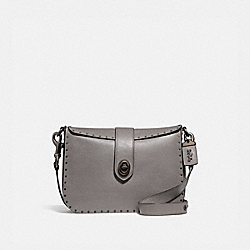 PAGE 27 WITH RIVETS - HEATHER GREY/BLACK COPPER - COACH F31929