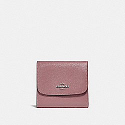 SMALL WALLET - DUSTY ROSE/SILVER - COACH F31960