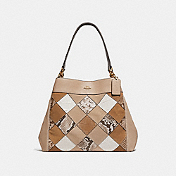 LEXY SHOULDER BAG - BEECHWOOD MULTI/LIGHT GOLD - COACH F31979