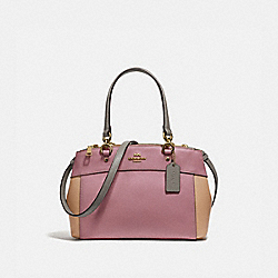 MINI BROOKE CARRYALL IN COLORBLOCK - DUSTY ROSE/BEECHWOOD MULTI/LIGHT GOLD - COACH F31994