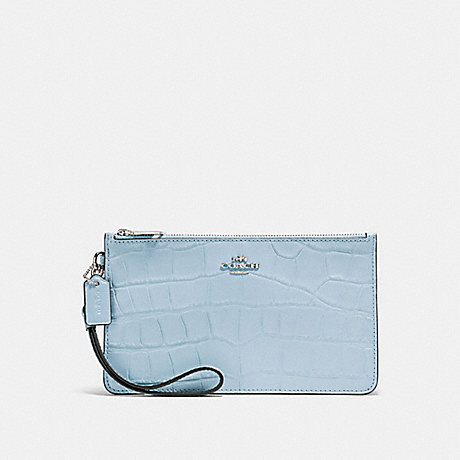 COACH CROSBY CLUTCH - PALE BLUE/SILVER - F31996