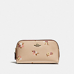 COSMETIC CASE 17 WITH BABY BOUQUET PRINT - BEECHWOOD MULTI/LIGHT GOLD - COACH F32012