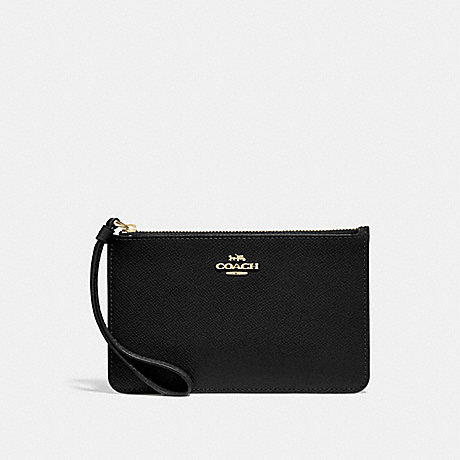 COACH SMALL WRISTLET - BLACK/LIGHT GOLD - F32014