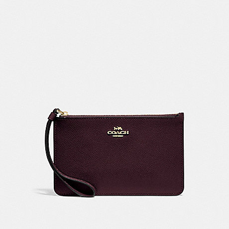 COACH SMALL WRISTLET - OXBLOOD 1/LIGHT GOLD - F32014
