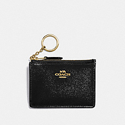 MINI SKINNY ID CASE - GOLD/BLACK - COACH F32016