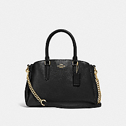 MINI SAGE CARRYALL - BLACK/LIGHT GOLD - COACH F32018