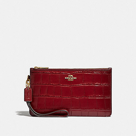 COACH CROSBY CLUTCH - CHERRY /LIGHT GOLD - F32036