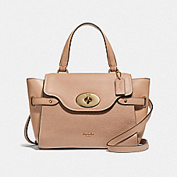 BLAKE FLAP CARRYALL - BEECHWOOD/LIGHT GOLD - COACH F32106